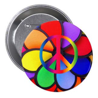 Peace & Love_ 7.5 Cm Round Badge
