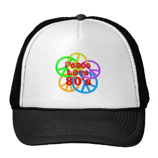 Peace Love 80s Cap