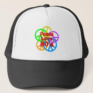 Peace Love 80s Trucker Hat
