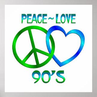 Peace - Love 90's Print