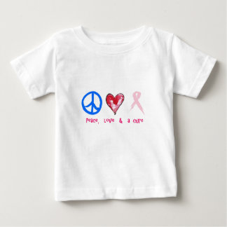 peace, love & a cure baby T-Shirt