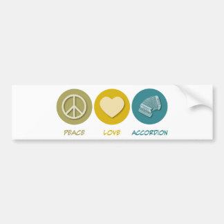 Peace Love Accordion Bumper Sticker