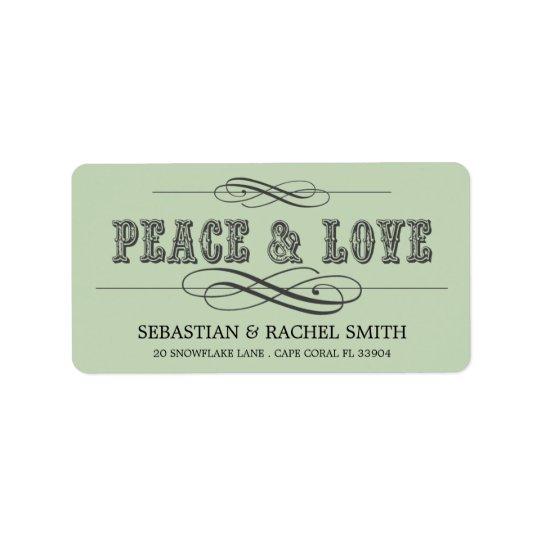 PEACE & LOVE  ADDRESS LABELS