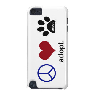 Peace Love Adopt iPod Touch 5G Covers
