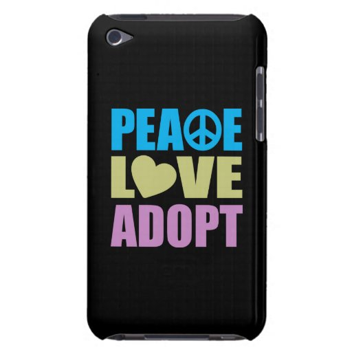 Peace Love Adopt Barely There iPod Covers