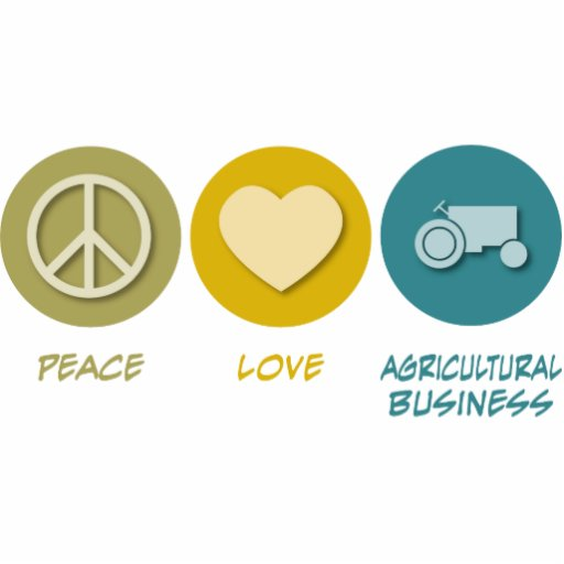 Peace Love Agricultural Business Cut Outs