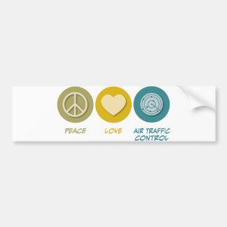 Peace Love Air Traffic Control Bumper Sticker