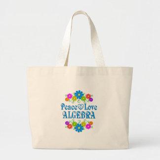 Peace Love Algebra Large Tote Bag