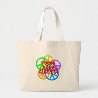 Peace Love Algebra Large Tote Bag