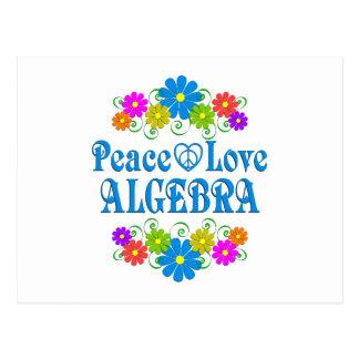 Peace Love Algebra Postcard