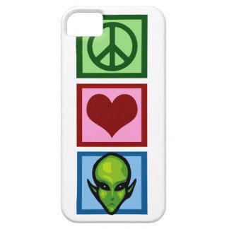 Peace Love Aliens iPhone 5 Cases