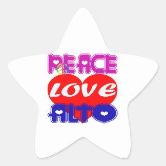 Peace Love Alto Sticker