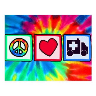 Peace, Love, Ambulance Postcard
