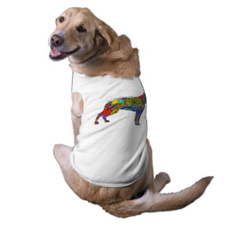 """Peace Love & American Bulldogs"" Pop Art Dog Tee"