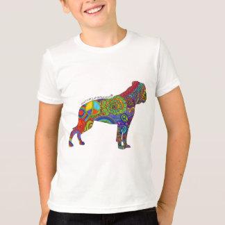 """Peace Love & American Bulldogs"" Pop Art Kids Tee"