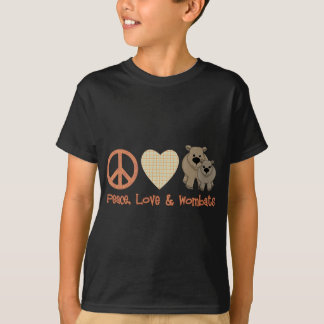 Peace, Love & Wombats T-Shirt