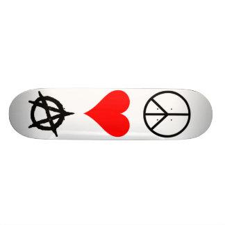 Peace,Love,Anarchy Custom Skateboard