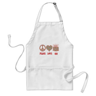 Peace Love and 40 Standard Apron
