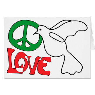 Peace Love and a Dove Holiday Greeting Card