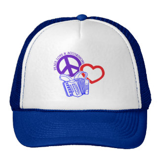 PEACE, LOVE AND ACCORDIONS CAP