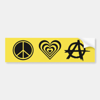 Peace Love and Anarchy Bumper Sticker