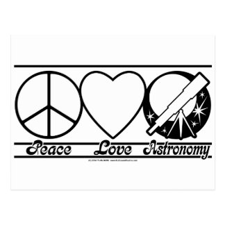 Peace Love and Astronomy Postcard