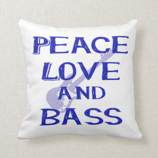 peace love and bass bernice blue w guitar cushion