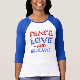 Peace Love and bluejays women's raglan T-Shirt