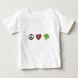 Peace, Love, and Broccoli Baby T-Shirt