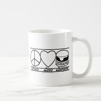 Peace Love and Burgers Coffee Mugs
