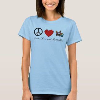 Peace, Love, and Butterflies T-Shirt