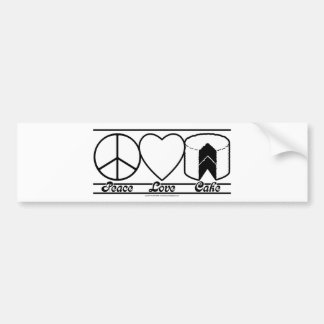 Peace Love and Cake Bumper Sticker