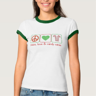 Peace, Love and Candy Canes T-Shirt