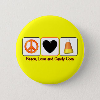 Peace, Love and Candy Corn 6 Cm Round Badge