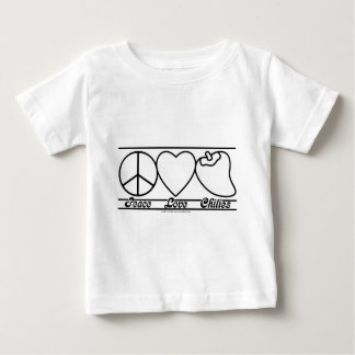 Peace Love and Chilies Baby T-Shirt