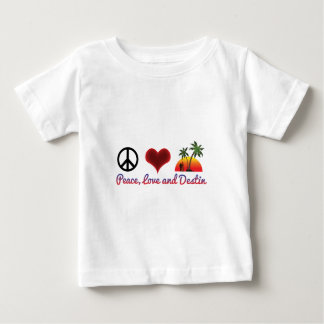 peace love and destin baby T-Shirt