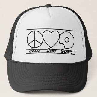 Peace Love and Donuts Cap