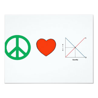 Peace Love and Economics Card