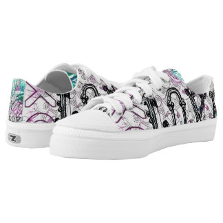 Peace Love and Eyes, Sweet Graffiti Sneakers Zipz