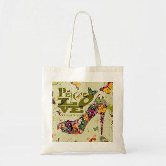 Peace, Love, and Fashion. xo PJ. Tote Bag