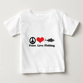 Peace love and fishing baby T-Shirt