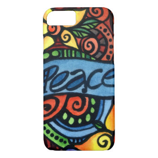 Peace, Love and Flowers Peace on Earth iPhone 8/7 Case