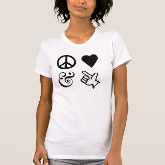 Peace Love And Get Your Guns Up T-Shirt