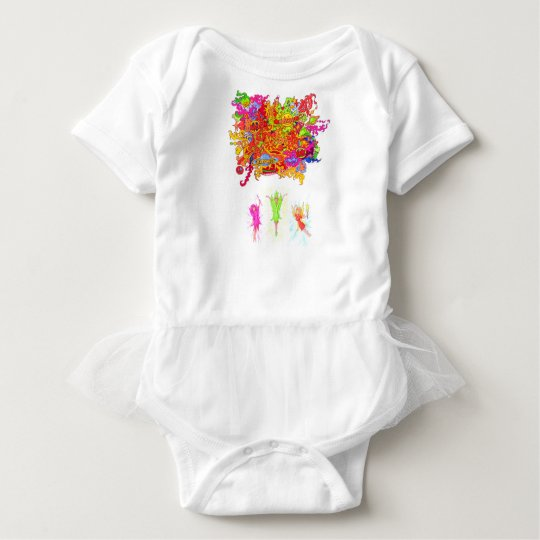 Peace, Love and Happiness Fairies. Baby Bodysuit