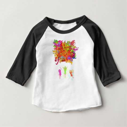 Peace, Love and Happiness Fairies. Baby T-Shirt