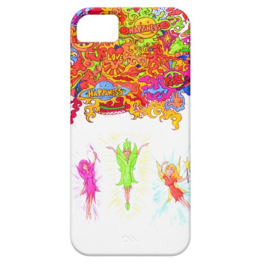 Peace, Love and Happiness Fairies. Barely There iPhone 5 Case