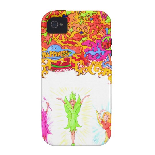 Peace, Love and Happiness Fairies. Case-Mate iPhone 4 Covers