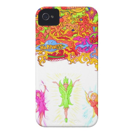 Peace, Love and Happiness Fairies. iPhone 4 Case