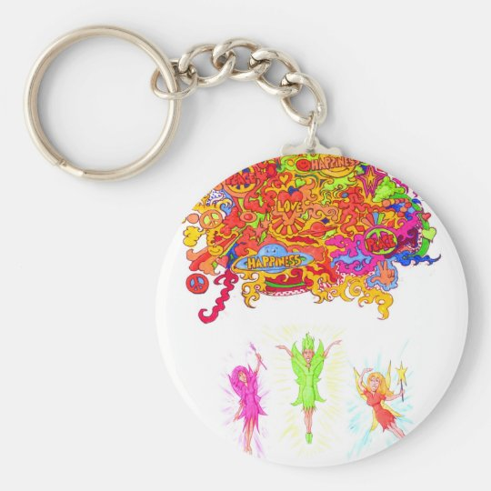 Peace, Love and Happiness Fairies. Key Ring
