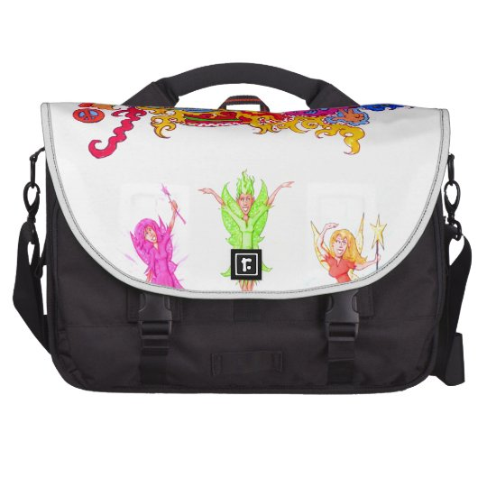 Peace, Love and Happiness Fairies. Laptop Bags